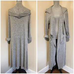 Long Hooded Duster Cardigan